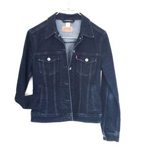 Levi's jean jacket dark wash sz S Like new cond